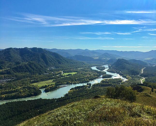 вид на реку катунь горный алтай золоторудная